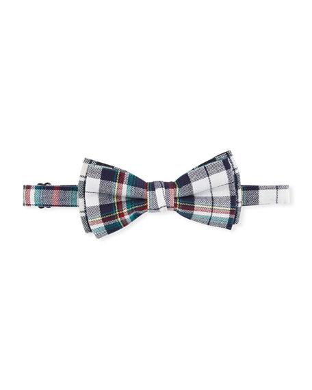 Boys' Recital Herringbone Plaid Bow Tie in Multi