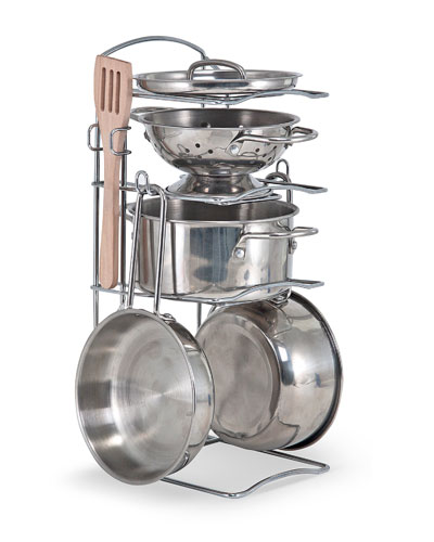 Let's Play House Stainless Steel Pot & Pan Play Set