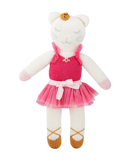 Knit Ballerina Kitten Doll, 14""