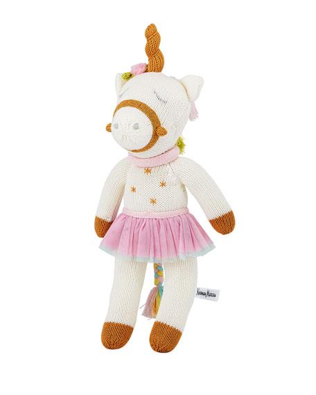 "Zubels Knit Unicorn Doll, 14"""
