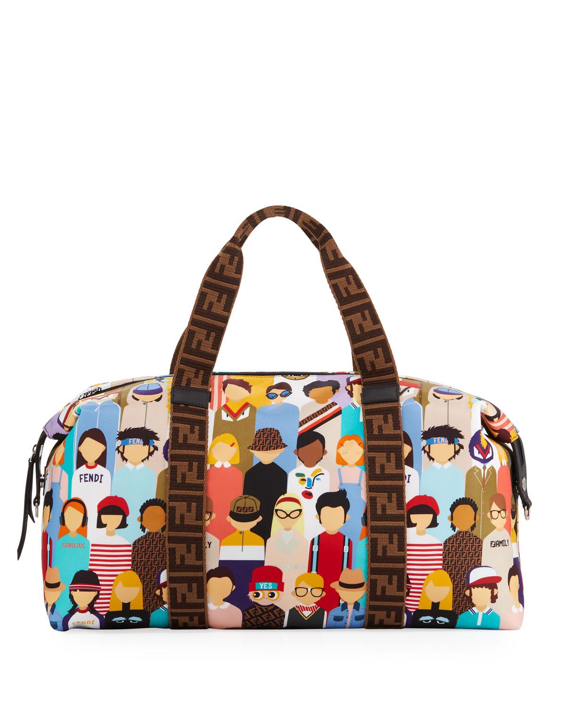 Fendi Friends-Print Diaper Bag  c0bbfbf109b2a