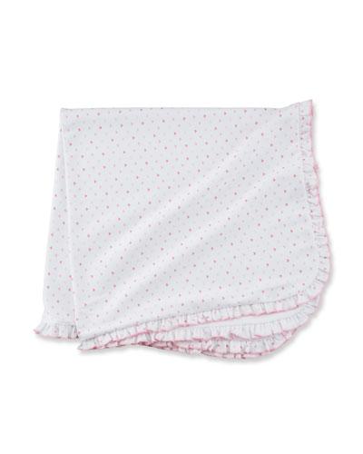 Princess Castle Ruffle-Trim Printed Pima Baby Blanket