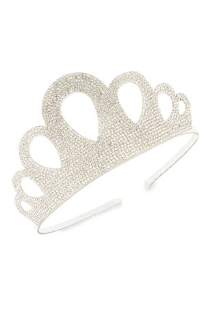 Bari Lynn Baby's Crystal Embellished Crown Headband