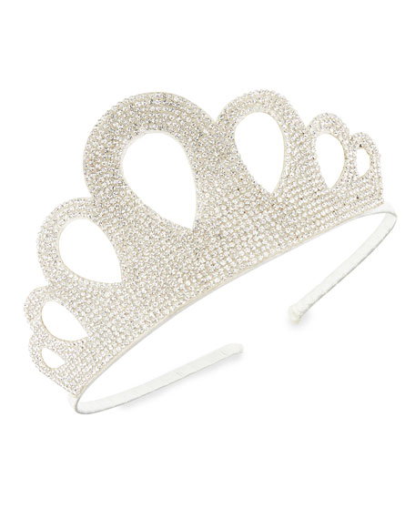 Baby'S Crystal Embellished Crown Headband in Multi