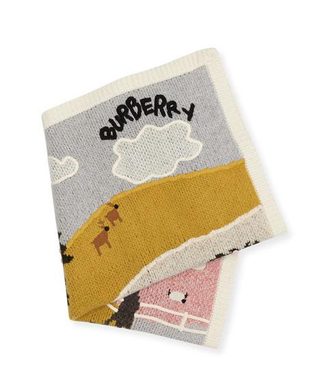 Landscape Knit Cashmere Baby Blanket
