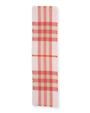 013fe4c953a Burberry Kids  Washed Check Scarf