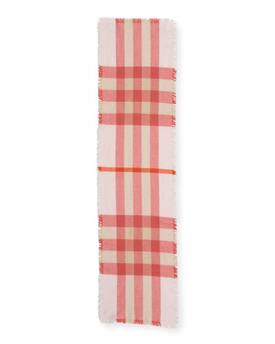 Kids' Washed Check Scarf