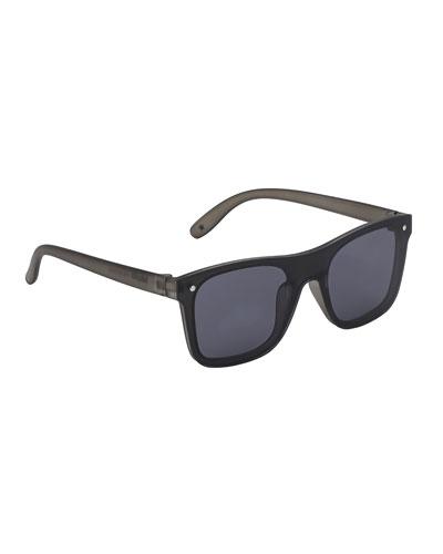 Kids' Seth Lens-Over-Frame Square Sunglasses