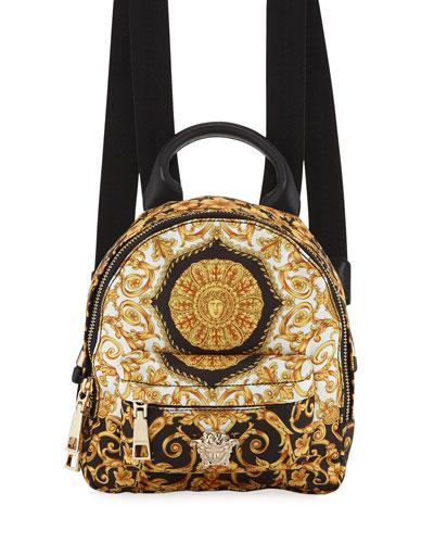 Kids' Baroque-Print Canvas Backpack