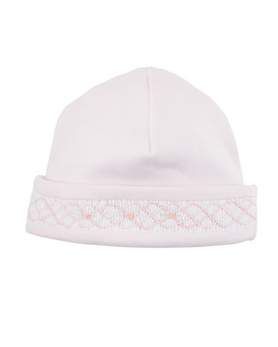 CLB Rosebuds Embroidered Baby Hat