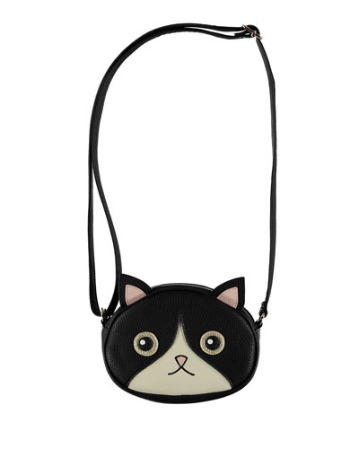 Girls' Kitty Face Crossbody Bag