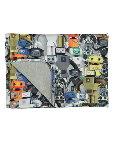 Niles Robot-Print Baby Blanket