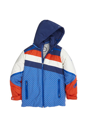 Stefano Ricci Boys' Colorblock Hooded Ski Jacket, Size 10-14