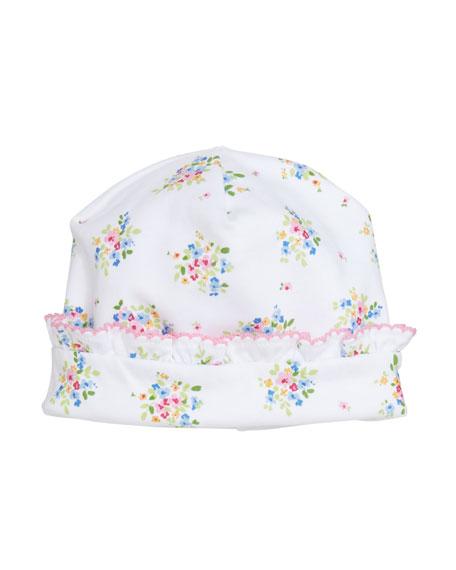 Kissy Kissy Petite Pansies Pima Baby Hat In Multi  9fdaeb49b65