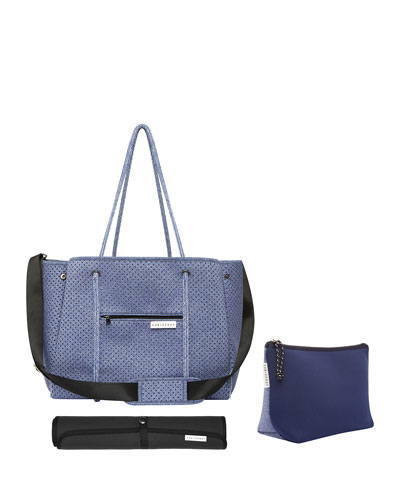 The Mumset 3-Piece Baby Bag Set, Blue