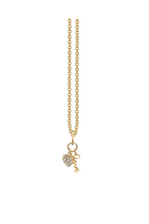 Sydney Evan Love Duo Charm Necklace w/ Diamonds, Youth 7-14