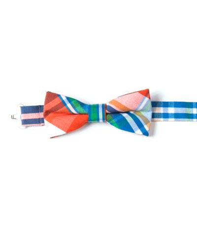 Boys' Twill Plaid Bow Tie