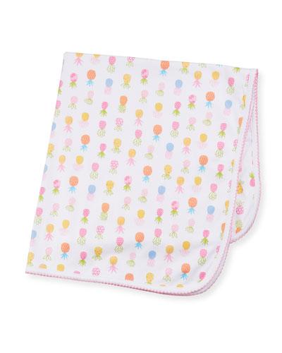 Pineapples Printed Pima Baby Blanket
