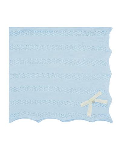 Pointelle Knit Cotton Baby Blanket