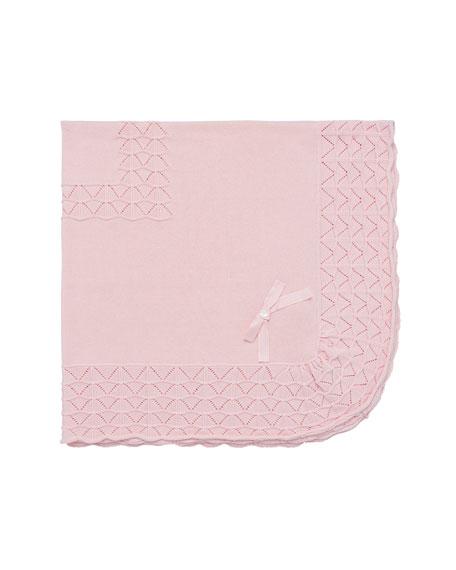 Pili Carrera Pointelle Knit Baby Blanket