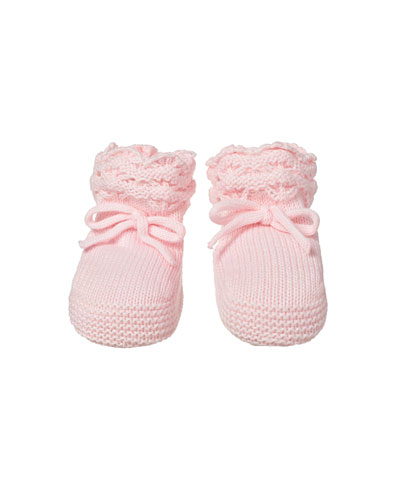 Baby's Waffle Knit Cotton Booties