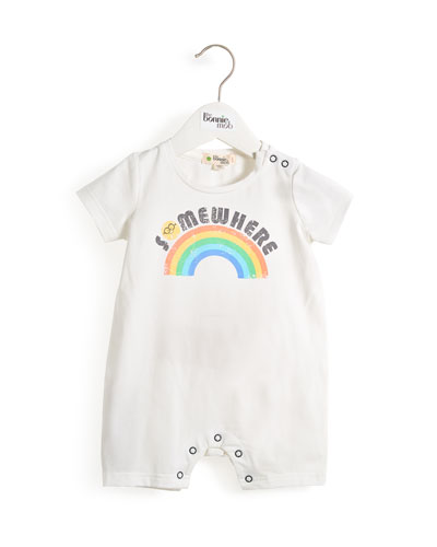 Somewhere Rainbow Motif Shortall  Size 0-24 Months