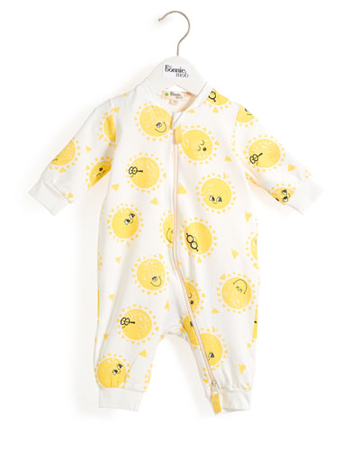 Sunshine Smiley Face Coverall  Size 0-18 Months