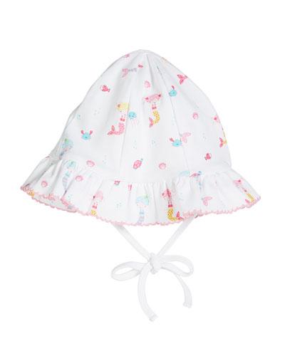 Mermaid Fun Floppy Printed Baby Hat