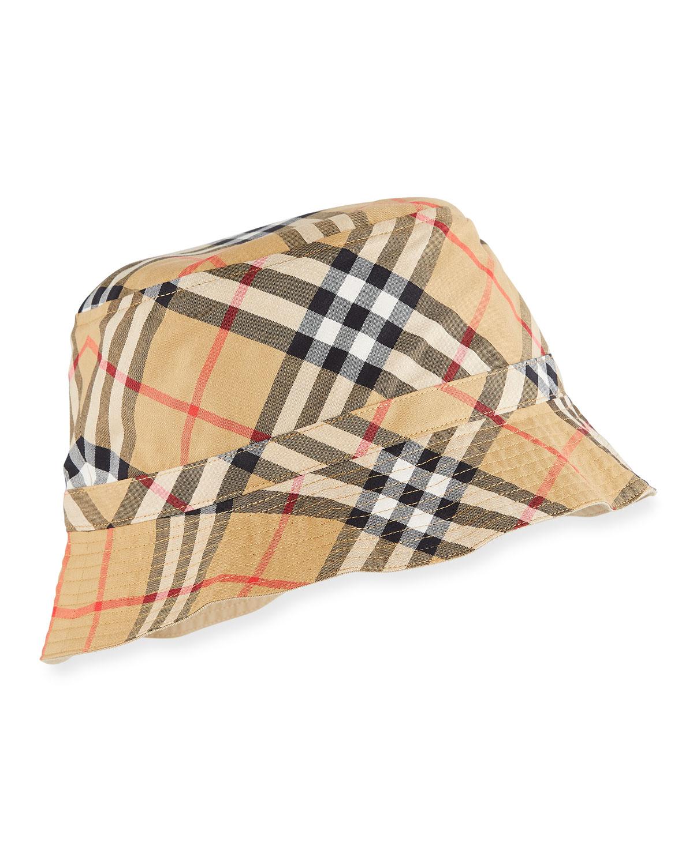 Burberry Kids  Chandy Check Bucket Sun Hat  b8d00729588