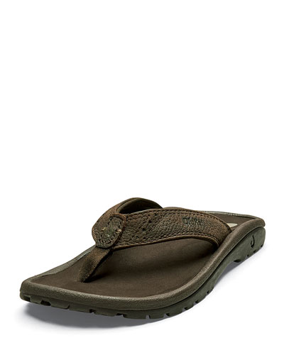 Boys' Nui Leather Thong Sandal  Kids