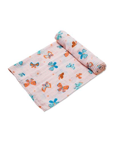 Butterflies Muslin Swaddle Blanket