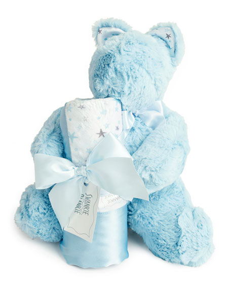 Swankie Blankie Sweet Dreams Bear & Blanket Gift Set