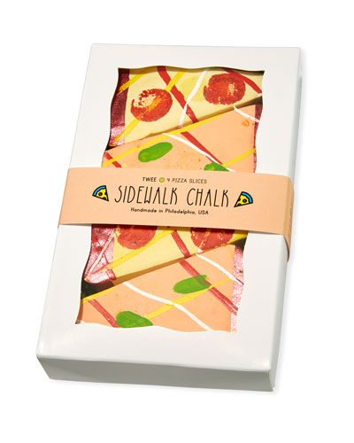 Cheesy Pizza Sidewalk Chalk