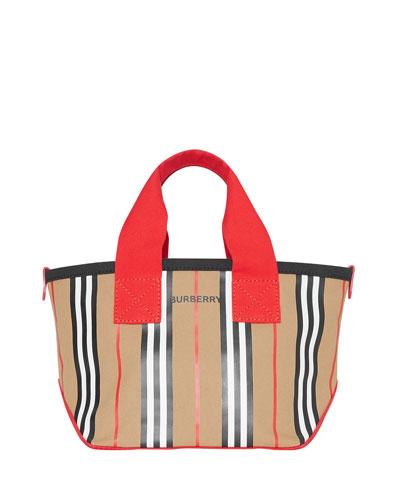 Kids' Icon Stripe Canvas Tote Bag