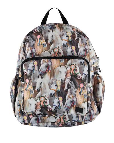 Girls' Show Horse Print Big Backpack