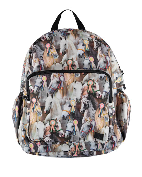 Molo GIRLS' SHOW HORSE PRINT BIG BACKPACK