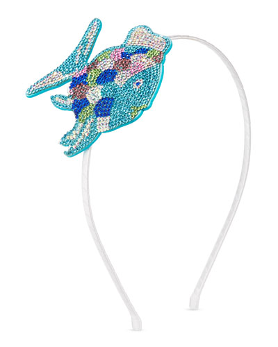Girls' Crystal Fish Headband