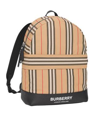 f1f3628f5f72 Burberry Kids  Nico Archive Stripe Canvas Backpack