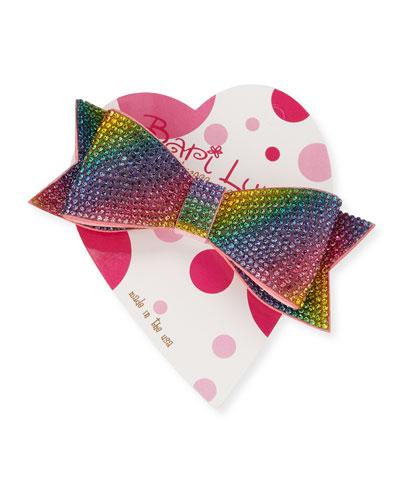 Rainbow Ombre Bow Clip