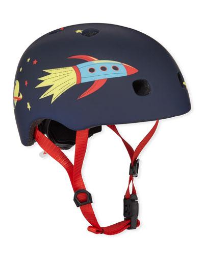 Boys' Rocket-Print Helmet, S