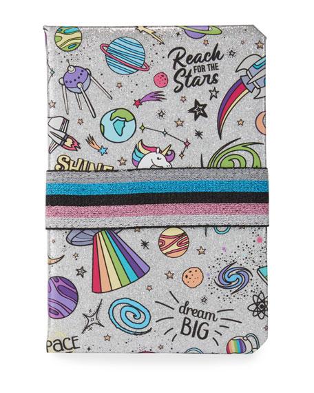 Bari Lynn Girls' Galaxy-Print Shimmer Notebook
