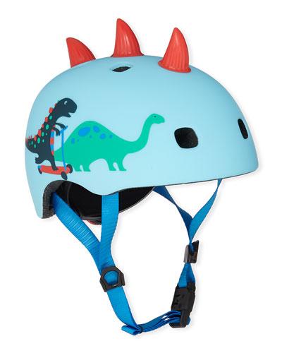 Boys' 3D Scootersaurus-Print Helmet, S