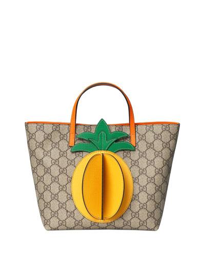 Kid's GG Supreme 3D Pineapple Tote Bag