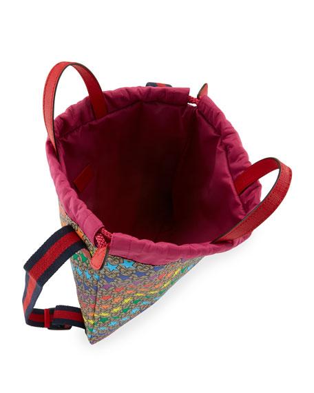 Gucci Kids' Colorful Stargirl GG Supreme Drawstring Backpack