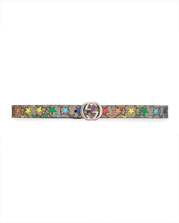 Girls' Rainbow Star Gg Supreme Belt by Gucci