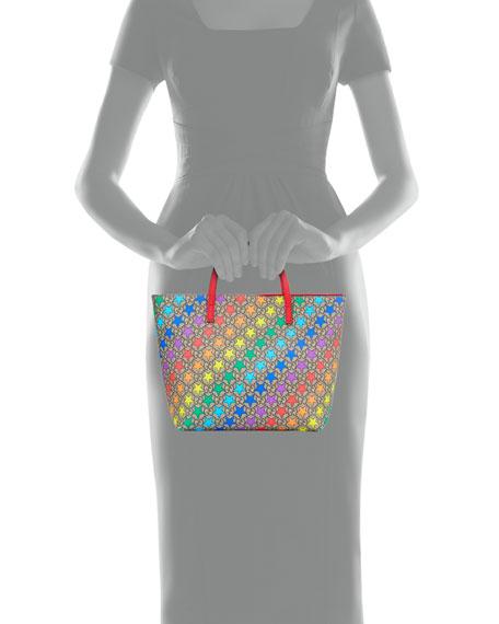 Gucci Kids' Rainbow Star GG Supreme Tote Bag