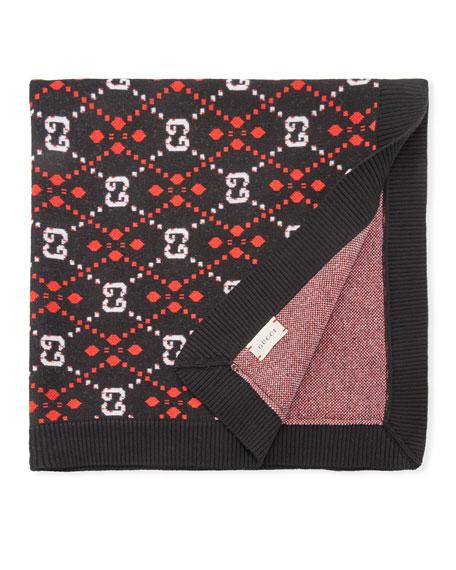 Gucci Interlocking G Knit Baby Blanket