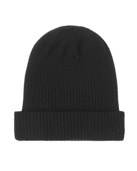 Burberry Kid's Logo Merino Wool Beanie Hat