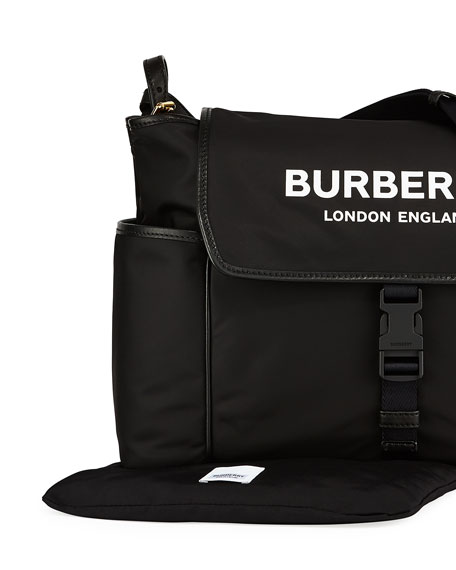 Burberry Logo Flap Diaper Bag