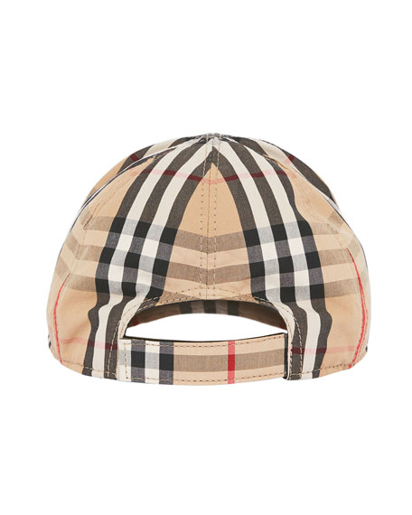 Burberry Kid's Check & Icon Stripe Baseball Cap